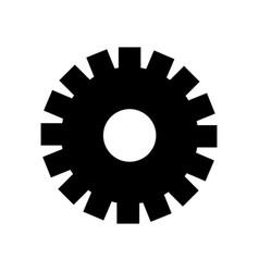 black contour gear symbol process industry vector image vector image
