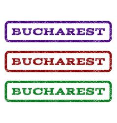 Bucharest watermark stamp vector