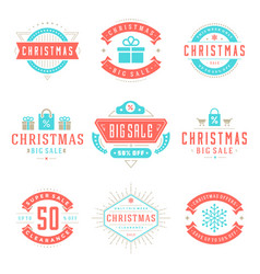 christmas sale badges badges and tags design vector image vector image