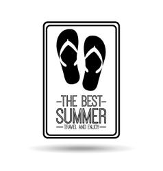 flip flops card best summer travel and enjoy vector image