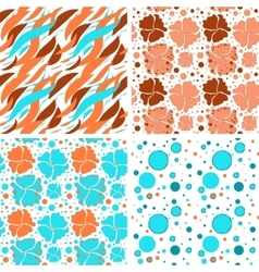 Flower spring pattern vector