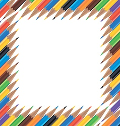 Frame of colored pencils vector image vector image