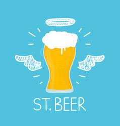 heaven beer concept st beer with angel vector image