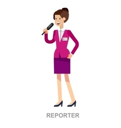 Journalist with microphone vector