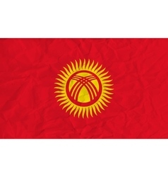 Kyrgyzstan paper flag vector image vector image