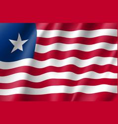 liberia realistic flag vector image vector image