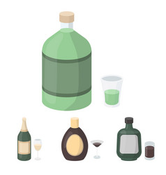 liquor chocolate champagne absinthe herbal vector image