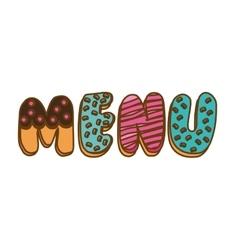 Menu word icon vector