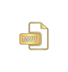 MOV computer symbol vector image vector image