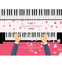 Musical flat background with vector image vector image