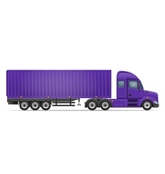 Semi truck trailer 05 vector