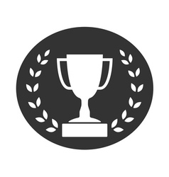Trophy cup with Laurel wreath icon 2 vector image vector image