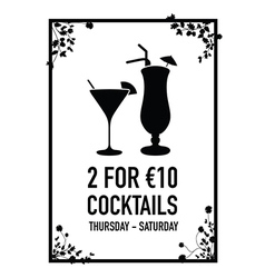 two for ten euro deal vector image