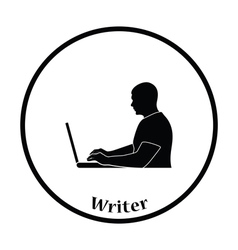 Writer at the work icon vector image