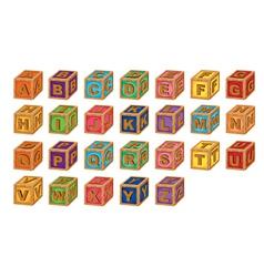 Alphabet cubes vector