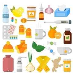 Influenza flu icons set vector