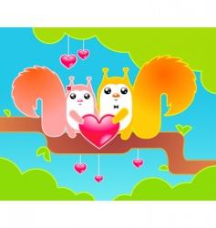 celebrating Valentine's day vector image