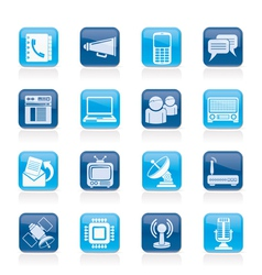 Connection and technology icons vector