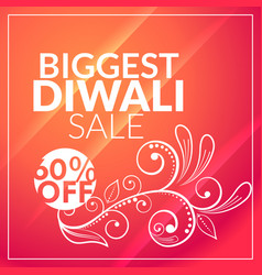 beautiful diwali sale marketing background with vector image