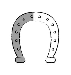 Horseshoe lucky isolated icon vector
