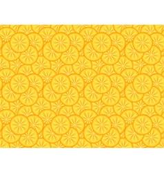 pattern made of orange slices vector image