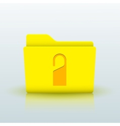 yellow folder on blue background Eps10 vector image