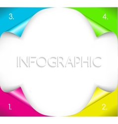 Infographic design with paper corner on the vector