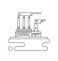 Concept of industrial factory buildings flat vector