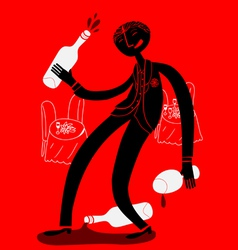 drunk guest vector image