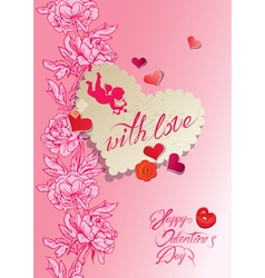 Flower card 2 380 vector
