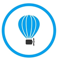 Balloon airship icon vector