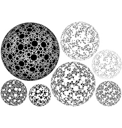 Dotted spherical shapes vector