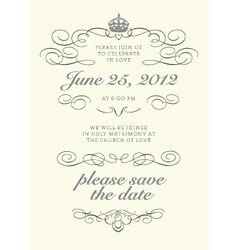Invitations Template vector image