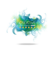 Abstract colorful smoke background abstract vector