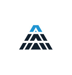 Abstract triangle logo template vector