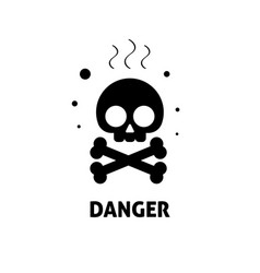 Chemical hazard sign flat vector