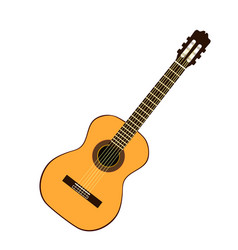 classic yellow guitar vector image vector image