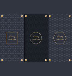 Dark backgrounds with gold elements vector