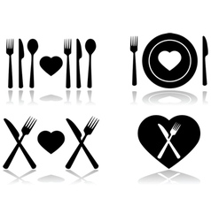 Dinner date vector