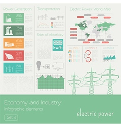 Economy and industry Electric power Electricity vector image vector image