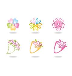 Flowers symbols vector
