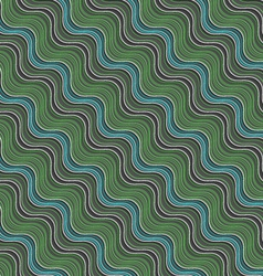 Geometrical ornament with diagonal green blue and vector image