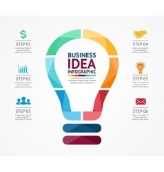 idea infographic with light bulb Template for vector image vector image