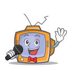 Karaoke tv character cartoon object vector