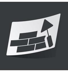 Monochrome building wall sticker vector