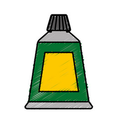 Paint tube icon vector