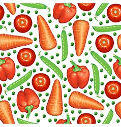 peas vegetables pattern vector image