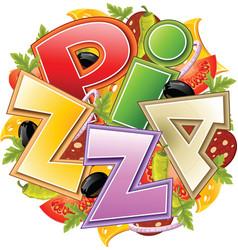 Pizza food vector