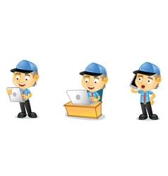 Postman 3 vector image