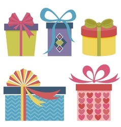 Presents and gifts set vector image